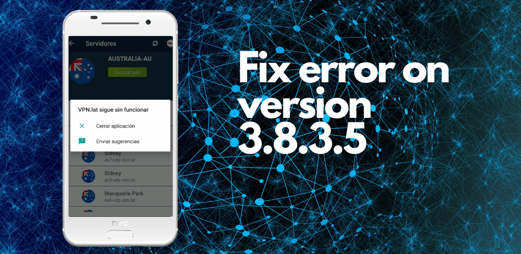 How to fix the error when updating to version 3.8.3.5