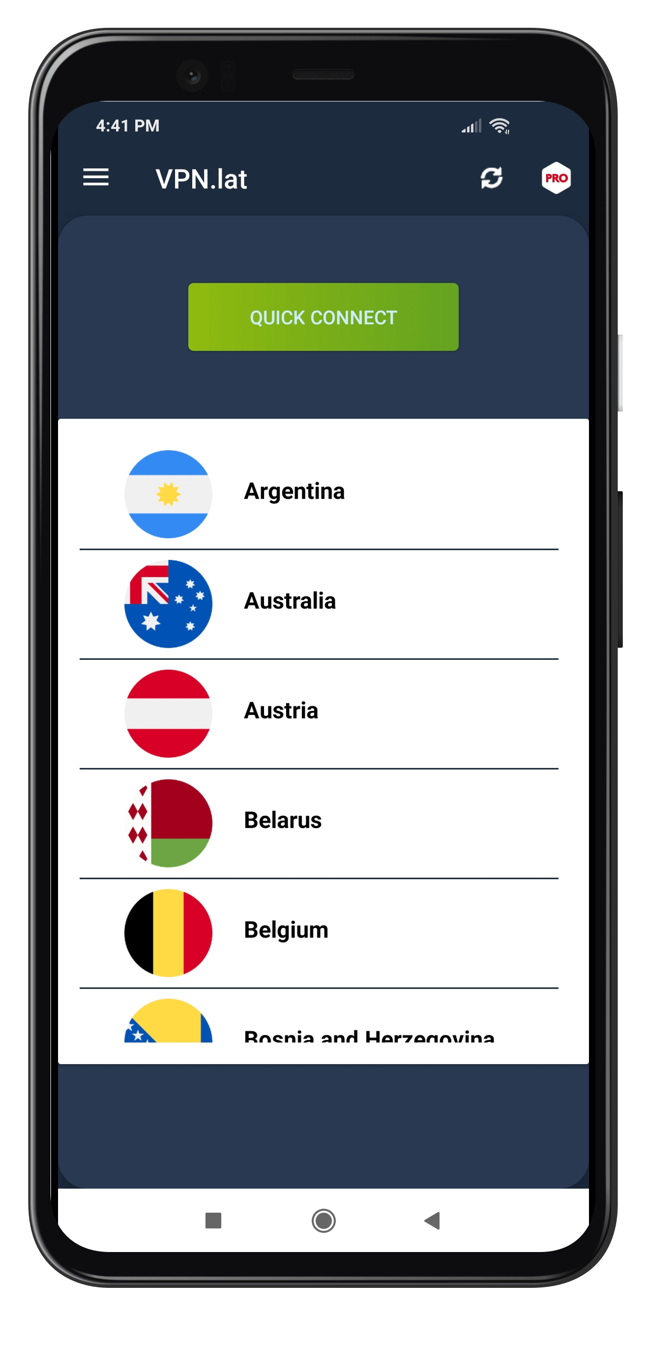 VPN lat for Android Screenshot